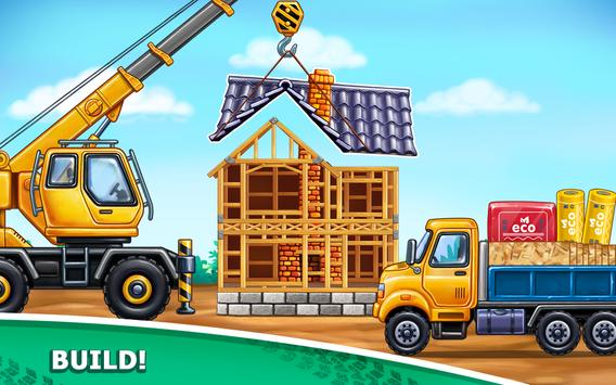Truck games for kids - build a house, car wash17