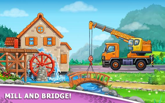 Truck games for kids - build a house, car wash5