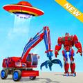 Excavator Robot Car Game – Elephant Robot Games 3d