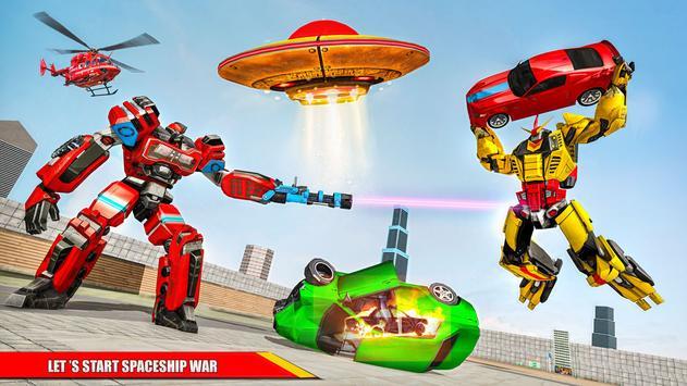 Space Robot Transport Games - Lion Robot Car Game screenshot 3