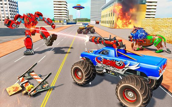 Space Robot Transport Games - Lion Robot Car Game screenshot 13