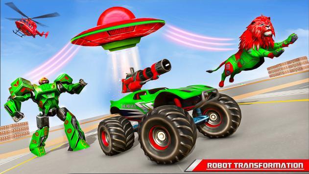 Space Robot Transport Games - Lion Robot Car Game screenshot 11