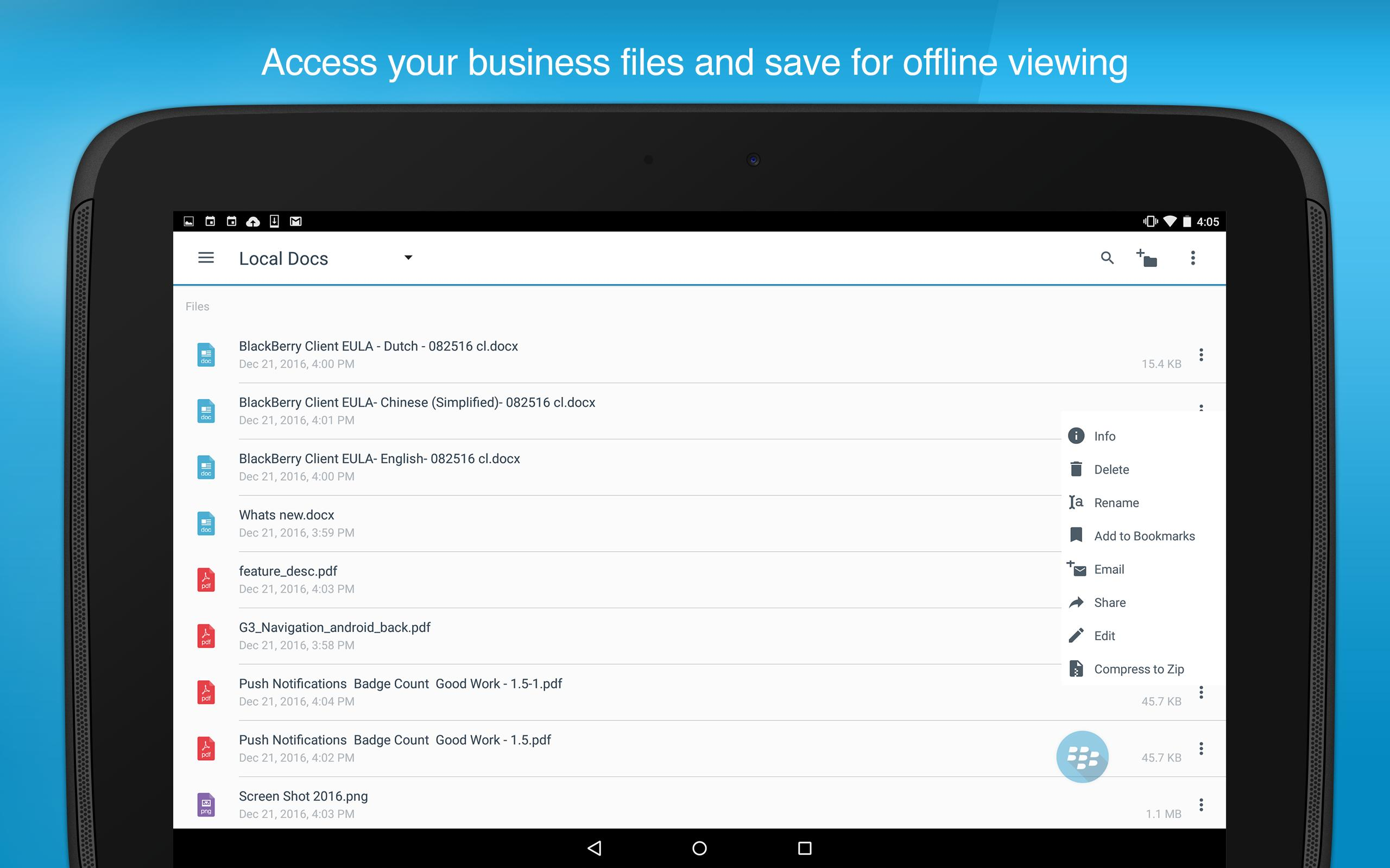 BlackBerry Work for Android - APK Download