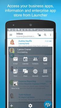 BlackBerry Work screenshot 1