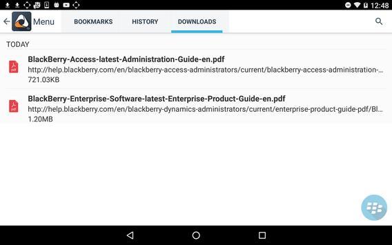 BlackBerry Access capture d'écran 13