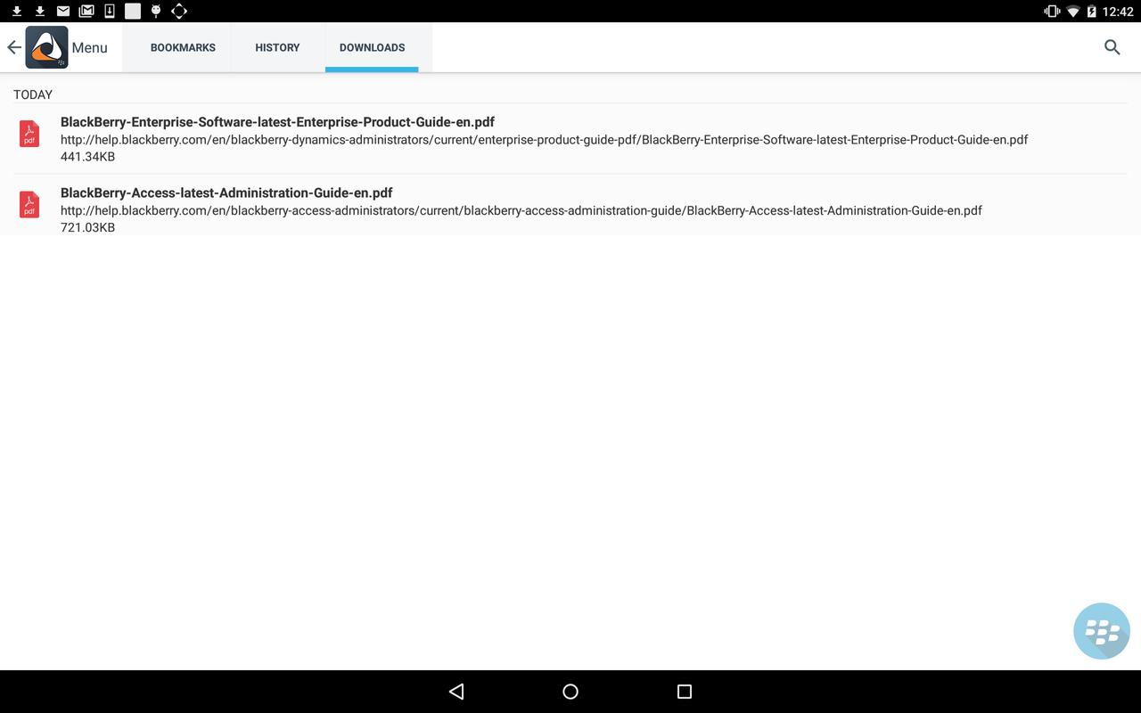 ... BlackBerry Access screenshot 15 ...
