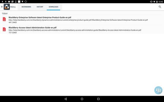 BlackBerry Access capture d'écran 7