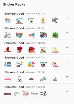 Good morning and good night stickers for whatsapp poster