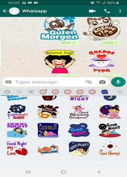 Good morning and good night stickers for whatsapp screenshot 2