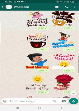 Good morning and good night stickers for whatsapp screenshot 4