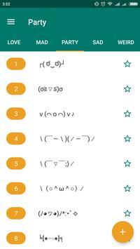 Kaomoji. Text smiles + Constructor screenshot 2