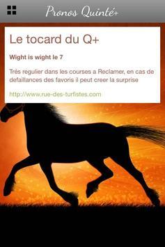 Pronos Quinté, infos et tuyaux screenshot 1