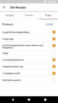 Diet Recipes स्क्रीनशॉट 4