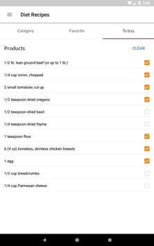 Diet Recipes स्क्रीनशॉट 16
