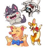 WAStickerApps Joyful dogs icon