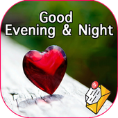 Good night & evening messages with pictures GIFs biểu tượng