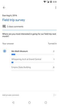 Google Classroom captura de pantalla 4