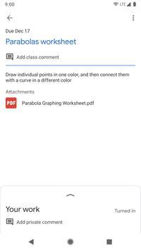 Google Classroom captura de pantalla 5