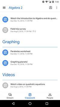 Google Classroom captura de pantalla 1
