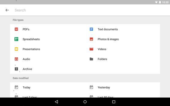 15 Schermata Google Drive