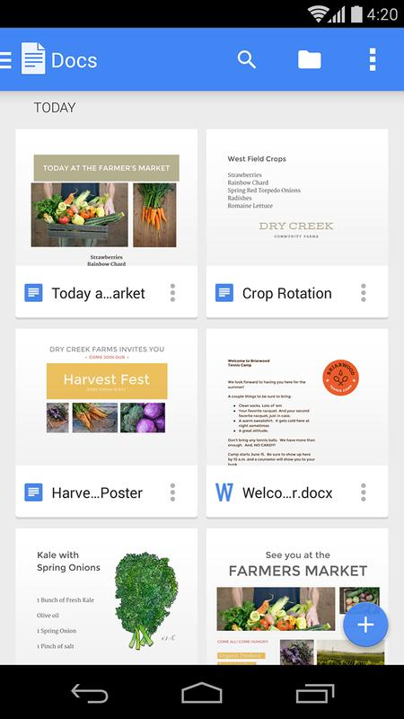 google docs for android apk download