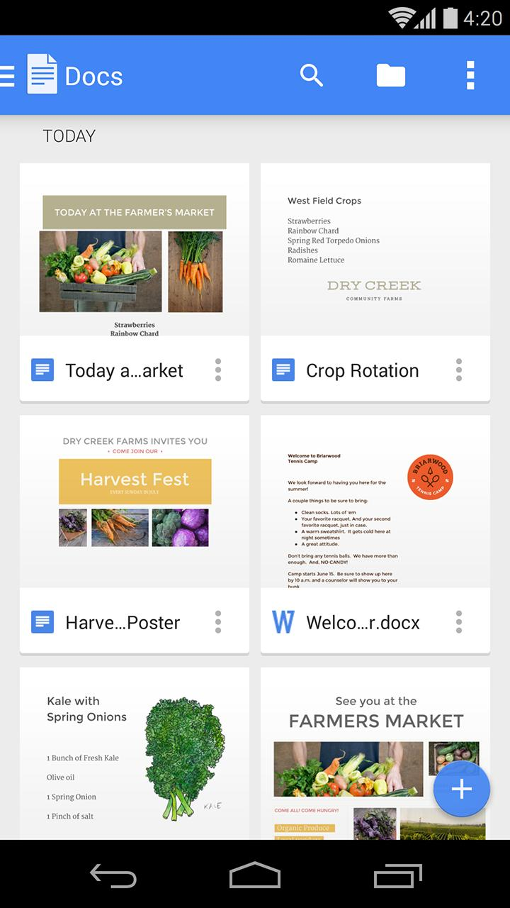 google docs apk for android 2.3