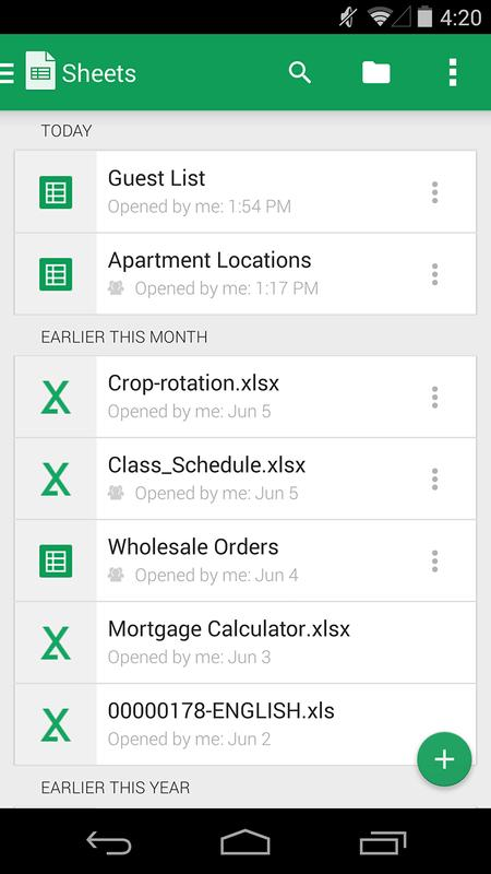 google sheets for android apk download