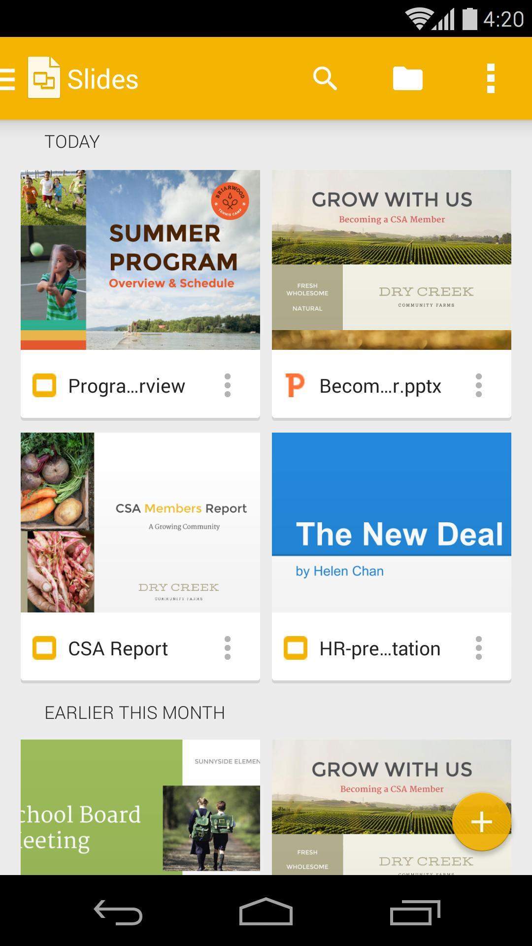 Google Slides poster