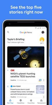 أخبار Google الملصق