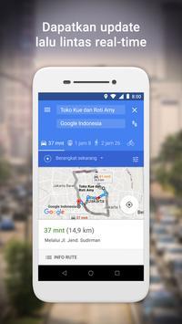 Google Maps Go - Arah, Trafik & Transportasi Umum screenshot 1