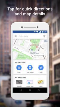 Google MapsGo-Itinéraires, trafic et transports Affiche