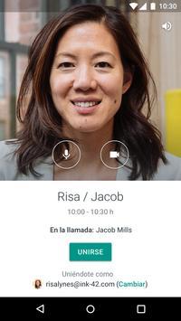 Hangouts Meet captura de pantalla 4