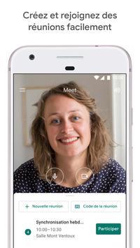 Google Meet : des visioconférences sécurisées Affiche