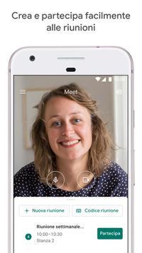 Poster Google Meet: video riunioni sicure