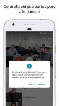 1 Schermata Google Meet: video riunioni sicure