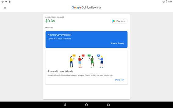 Google Opinion Rewards تصوير الشاشة 9