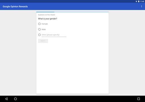 Google Opinion Rewards تصوير الشاشة 6