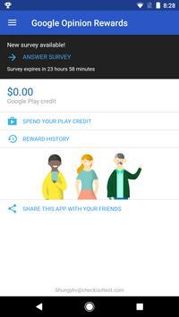 Google Opinion Rewards تصوير الشاشة 1