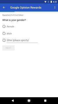 Google Opinion Rewards تصوير الشاشة 2