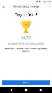 Google Ödüllü Anketler Ekran Görüntüsü 3