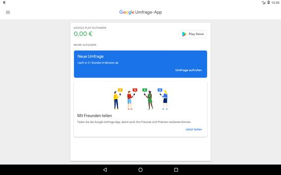 Google Umfrage-App Screenshot 5