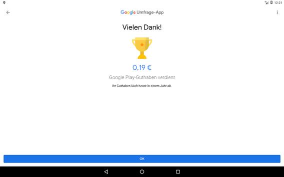 Google Umfrage-App Screenshot 7