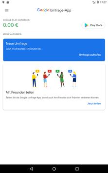 Google Umfrage-App Screenshot 9