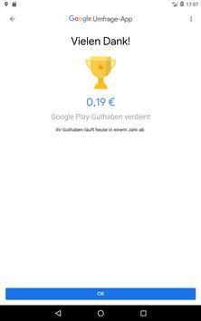 Google Umfrage-App Screenshot 11
