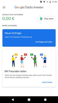 Google Umfrage-App Screenshot 1
