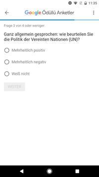 Google Umfrage-App Screenshot 2