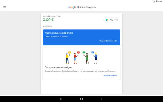 Google Opinion Rewards captura de pantalla 5