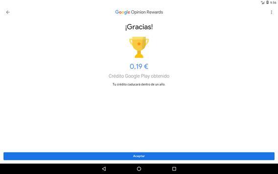 Google Opinion Rewards captura de pantalla 7