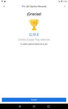 Google Opinion Rewards captura de pantalla 11