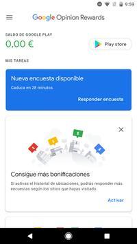 Google Opinion Rewards captura de pantalla 1